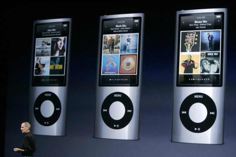 Apple Inc Chief Executive Steve Jobs speaks about features on the iPod Nano, which includes a video camera, at a special event in San Francisco September 9, 2009.