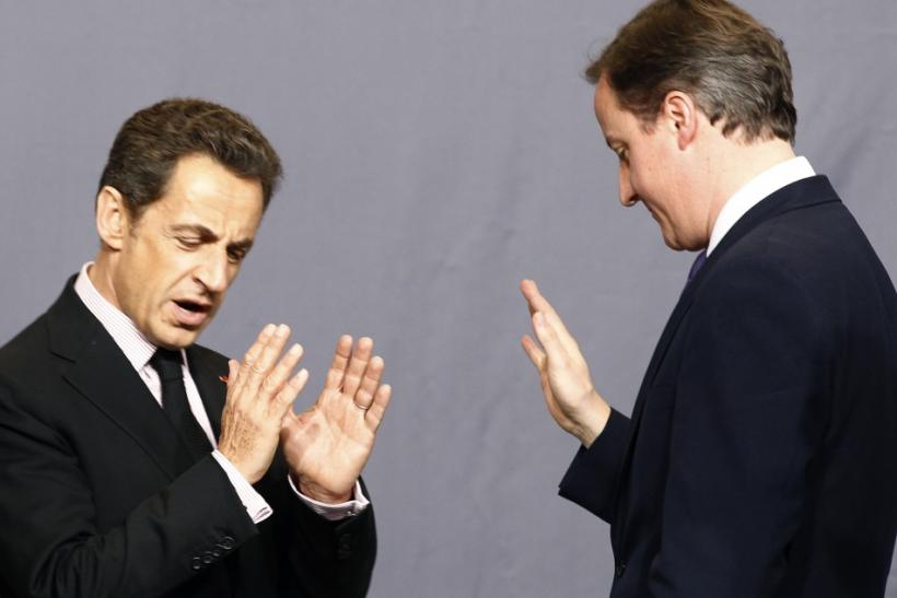 Nicolas Sarkozy and David Cameron.