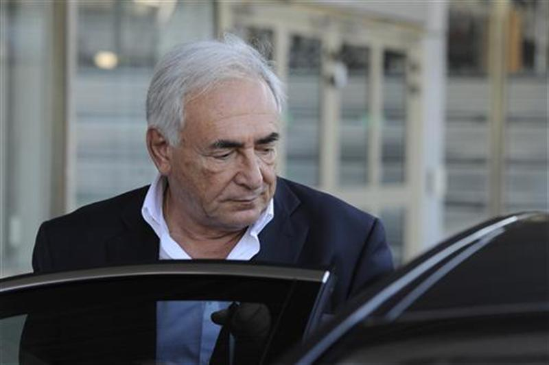 Former IMF chief Strauss-Kahn arrives at Orly airport near Paris