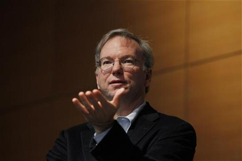 Google executive chairman Eric Schmidt speaks at The Sloan School of Management at Massachusetts Institute of Technology in Cambridge