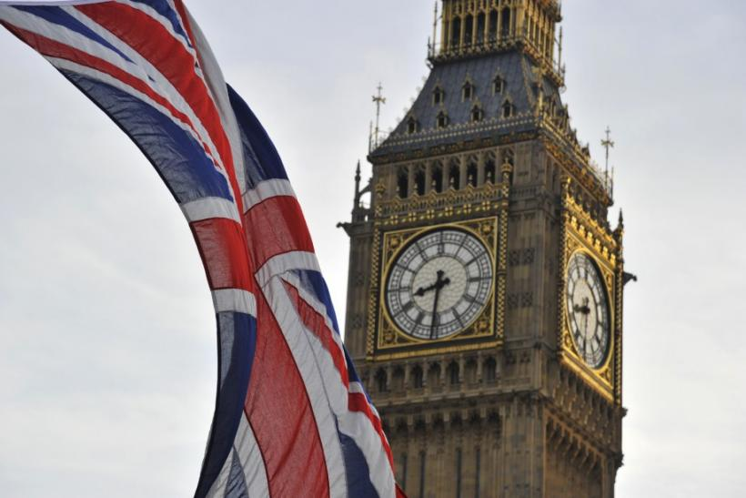 A Union flag flies near Big Ben and the Houses of Parliament in London October 24, 2011.