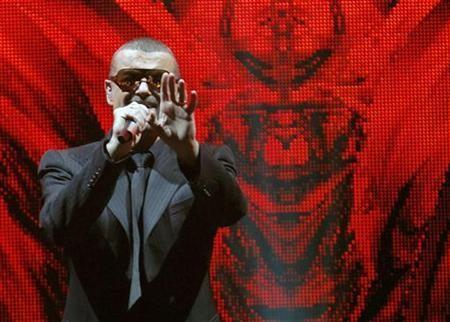 Singer George Michael performs at the Albert Hall in London