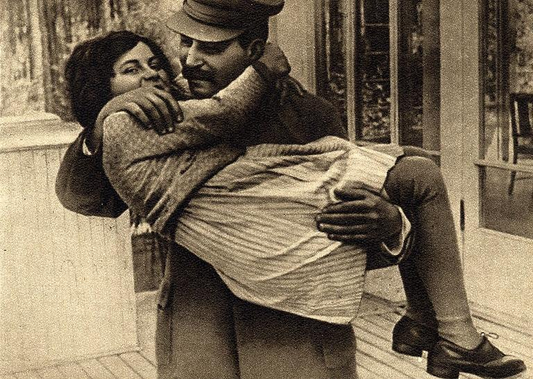 Josef Stalin and his only daughter