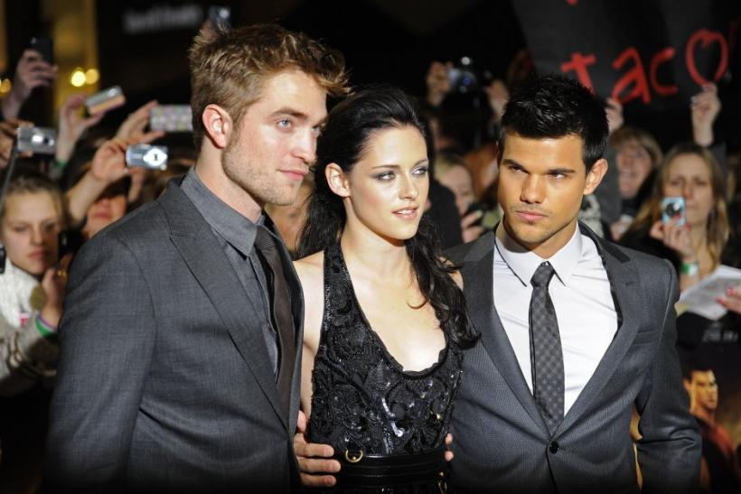 Robert Pattinson, Kristen Stewart, and Taylor Lautner