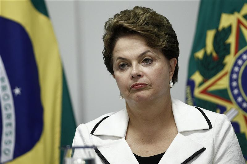 Brazil's President Dilma Rousseff attends a signing ceremony for the expansion of tax credit for Brazilian States at the Planalto Palace in Brasilia