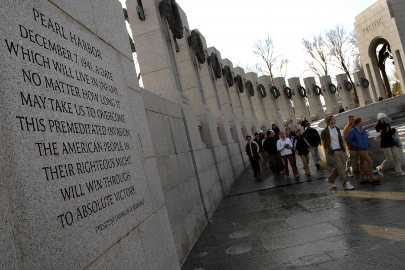 People visit the World War II Memorial