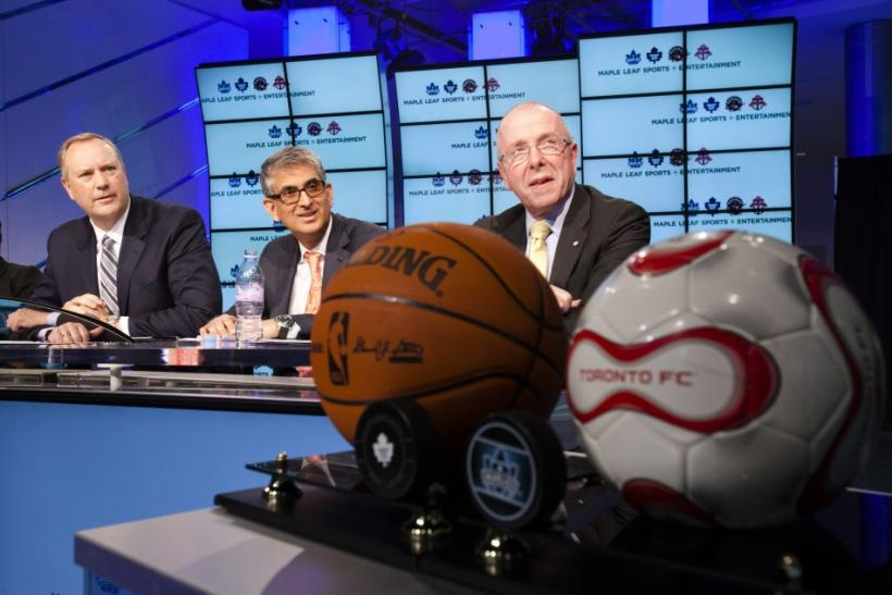 Cope, Mohamed and Tanenbaum attend a news conference announcing the sale of MLSE in Toronto