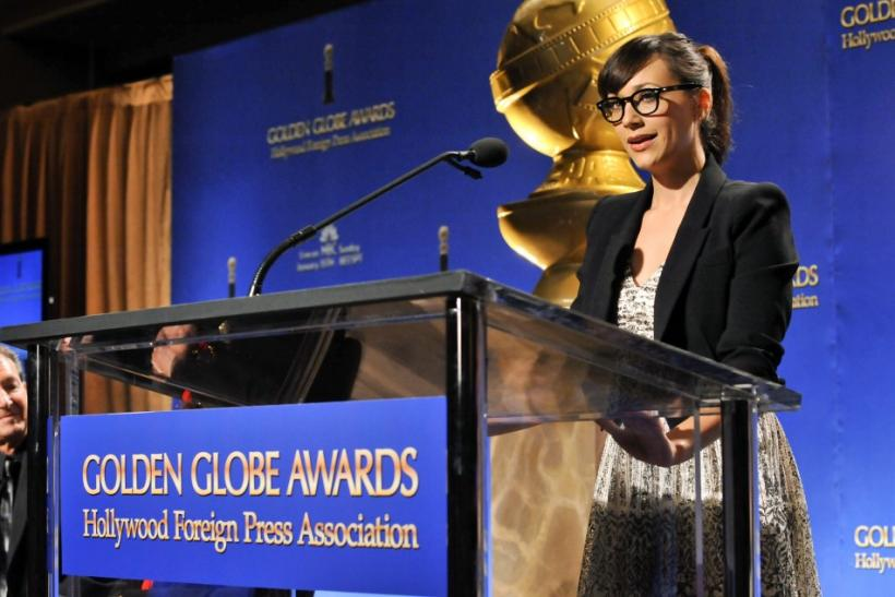 Actress Rashida Jones speaks during the announcements for the nominations for the 69th Annual Golden Globe Awards in the Beverly Hills, California