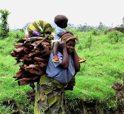 Mother and child in eastern DR Congo