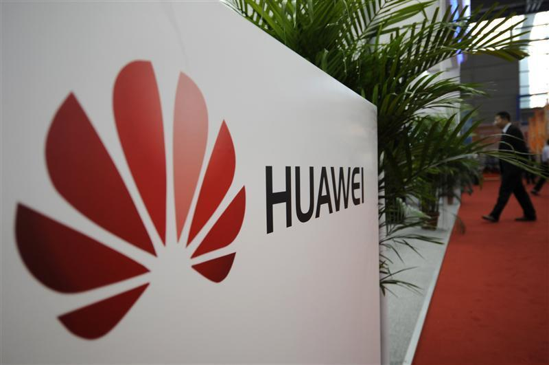 A logo of Huawei Technologies Co. Ltd. is seen at the 13th China Hi-Tech Fair in Shenzhen