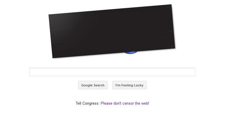 Google joined Anti-SOPA, PIPA Protest