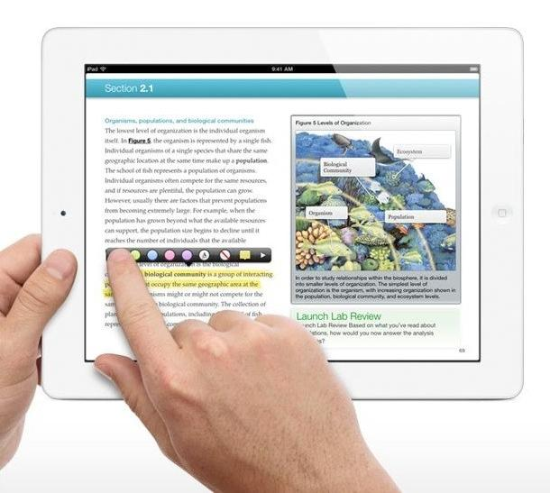 Apple unveiled iBooks 2 on Thursday, which allows users to buy and read full school textbooks on their iPad. The free app is easy to navigate, search, take notes, and create study materials.