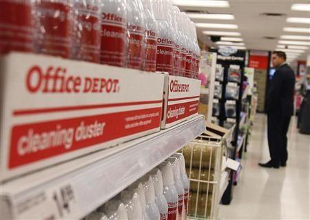 A man shops at an Office Depot store in New York October 25, 2010.