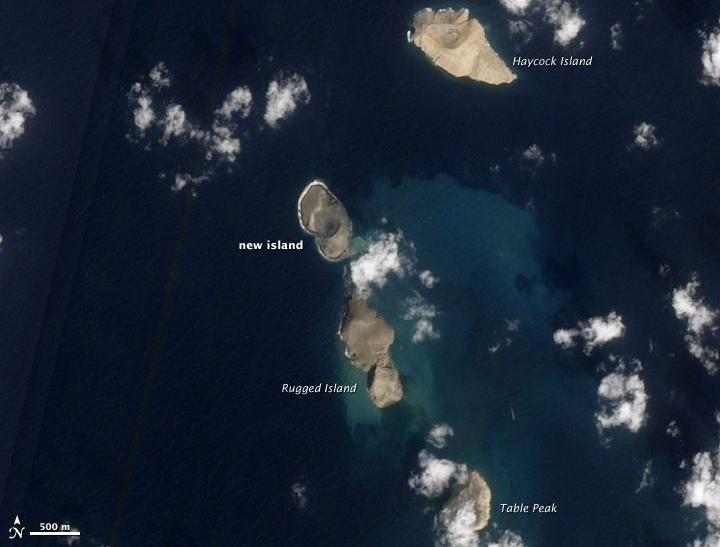 The new island formed on the Red Sea. Image courtesy EO-1/NASA