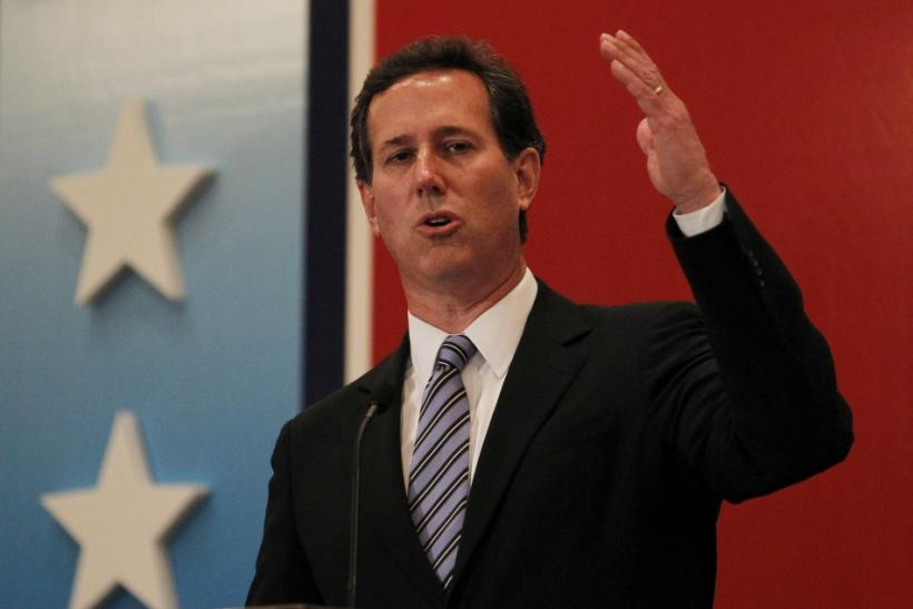 Rick Santorum rising gas prices