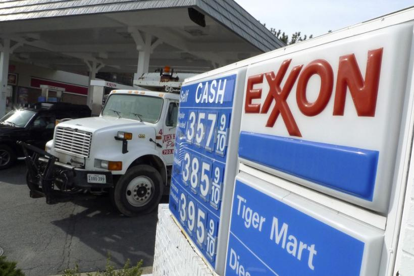 An Exxon gas station is pictured in Arlington, Virginia January 31, 2012.