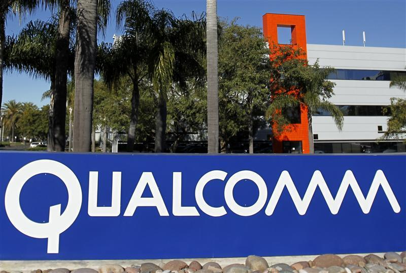 A Qualcomm sign is seen at o