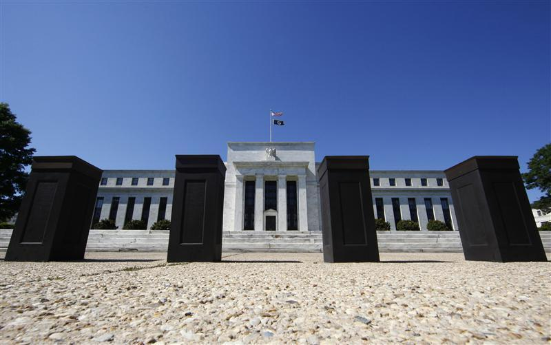 The U.S. Federal Reserve building is seen in Washington