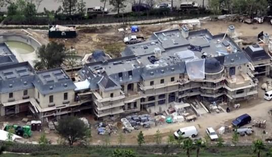 Tom Brady's mansion underway