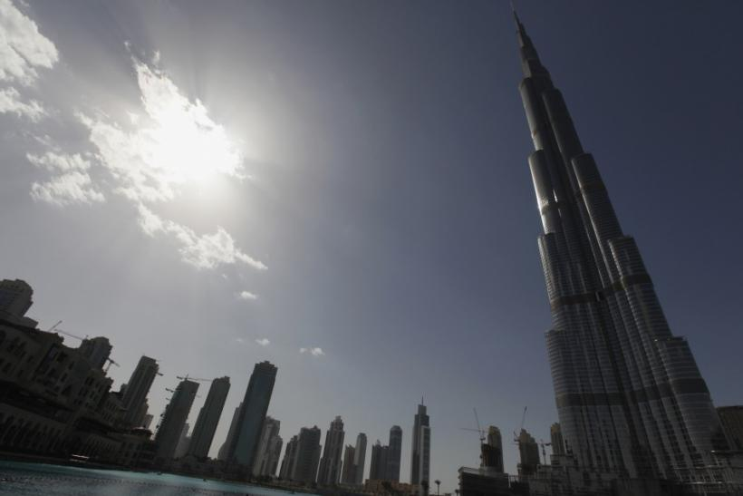 The Burj Khalifa, the world's tallest tower at a height of 828 metres (2,717 ft), is seen in Dubai February 5, 2012.