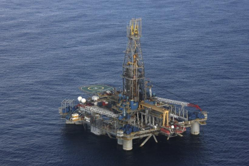 The Homer Ferrington gas drilling rig, operated by Noble Energy and drilling in an offshore block on concession from the Cypriot government, is seen during President Demetris Christofias' visit in the east Mediterranean, Nicosia November 21, 2011.