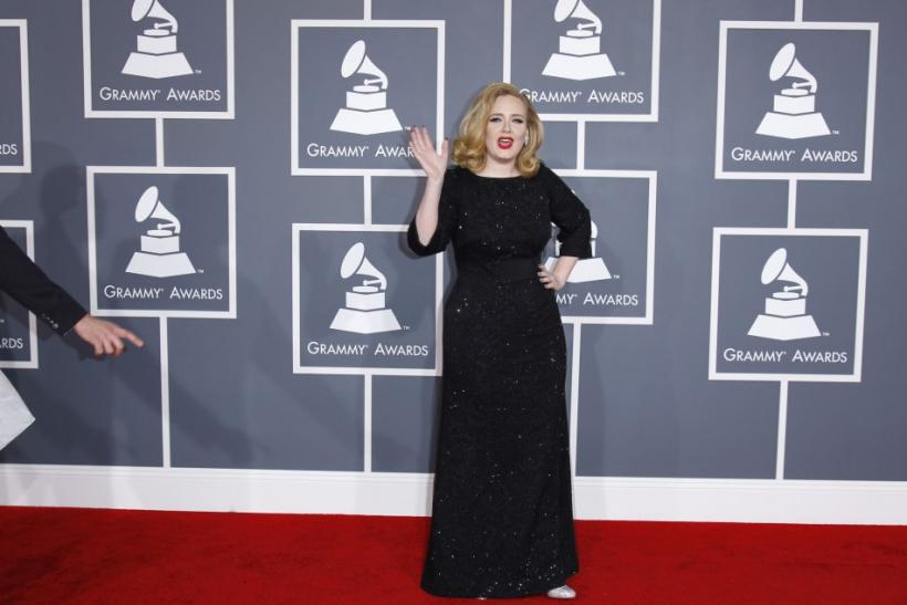 grammys 2012 red carpet bestdressed songstresses adele