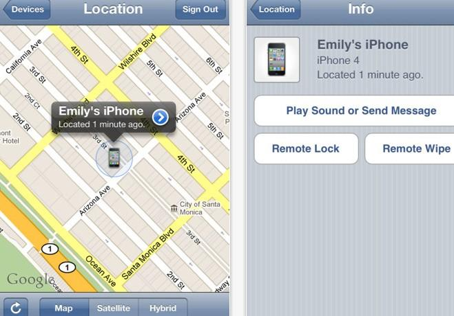 'Find My iPhone' app