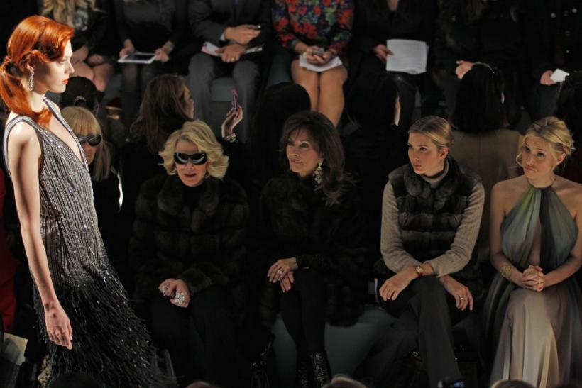 Actress Joan Rivers, actress Susan Lucci, Ivanka Trump and actress Kristin Cavallari look on during a showing of the Dennis Basso Fall/Winter 2012 collection during the New York Fashion Week February 14, 2012.