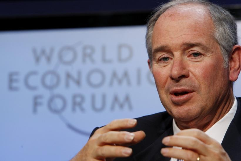 CEO of the Blackstone Group Stephen Schwarzman speaks during a session at the World Economic Forum (WEF) in Davos January 29, 2010.