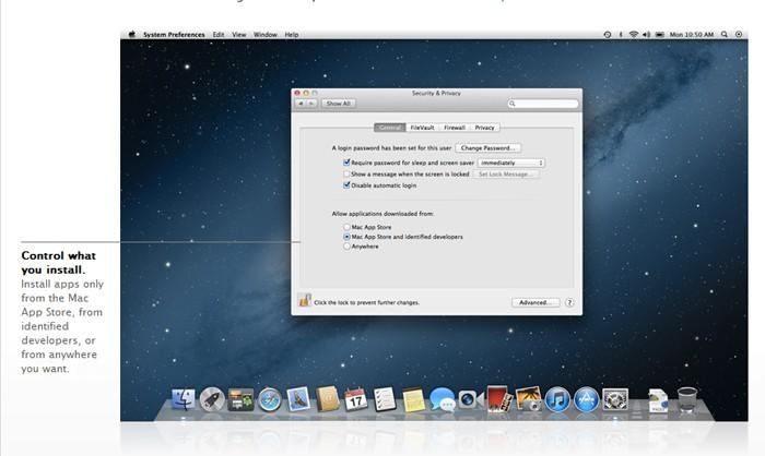 OS X Mountain Lion Gatekeeper