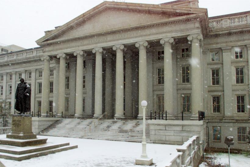 The U.S. Treasury Buidling