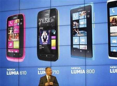 Nokia's President and CEO Stephen Elop attends a news conference during the Mobile World Congress in Barcelona February 27, 2012. Nokia has unveiled a new, cheaper smartphone using Microsoft's Windows Phone software, targeting a wider market for