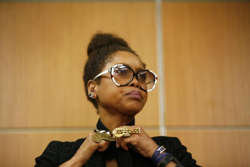 Badu arrived to a news conference in Kuala Lumpur February 29, 20