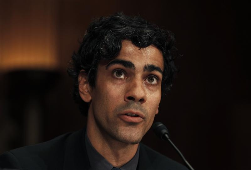 Jeremy Stoppelman, co-founder and CEO of yelp Inc., San Francisco, California testifies before a Senate Judiciary Subcommittee hearing in Washington