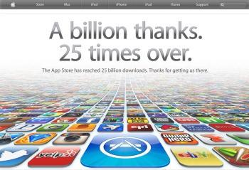 Apple's App Store Hits 25 Billion Downloads
