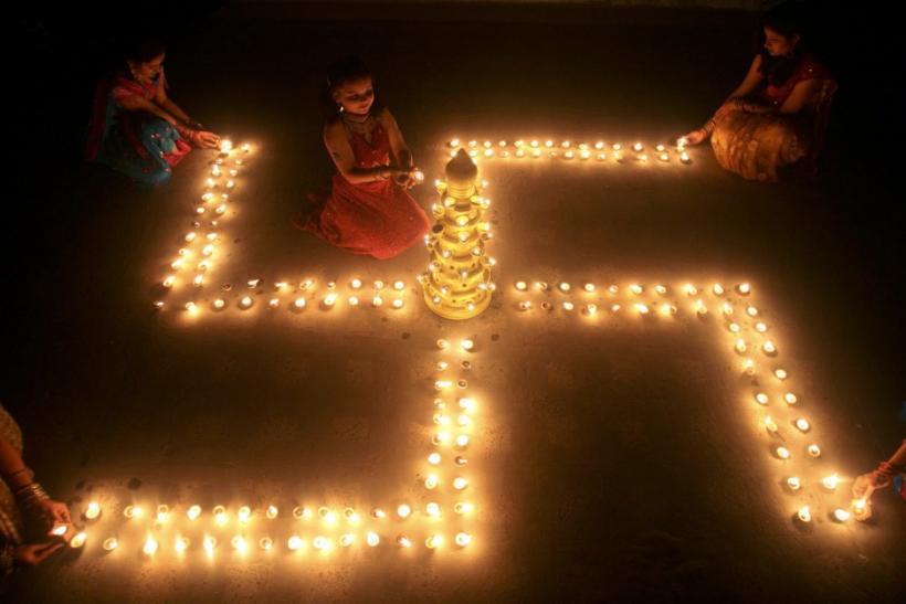 The swastika is an ancient Indian Hindu syymbol