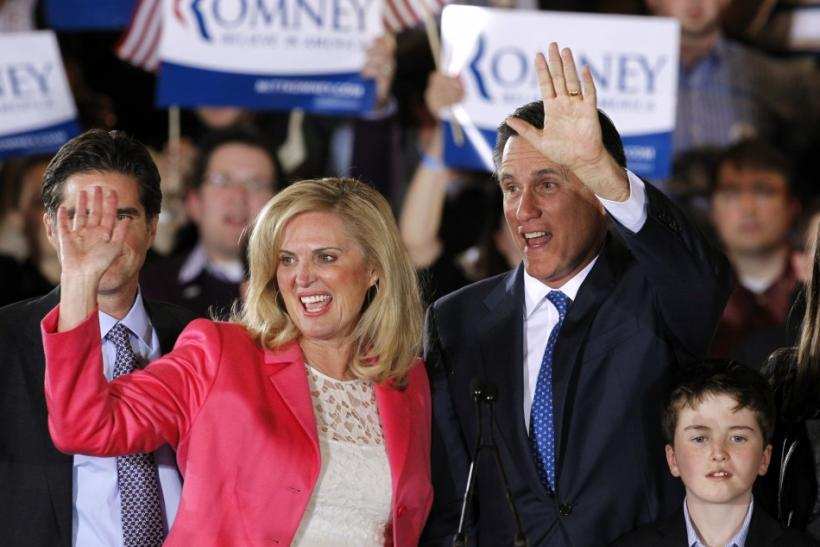 Mitt & Ann Romney, Tuesday, March 6, 2012 in Boston