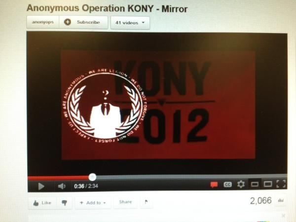 Anonymous Launches Operation Kony 2012, Supports Invisible Children