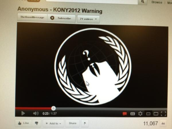 Anonymous Calls Kony 2012 Shady Propoganda