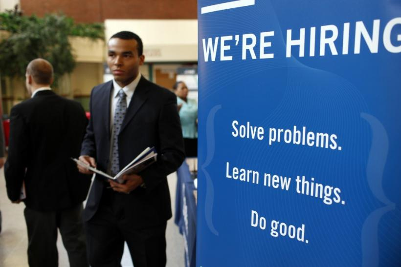 A job fair at Rutgers University.