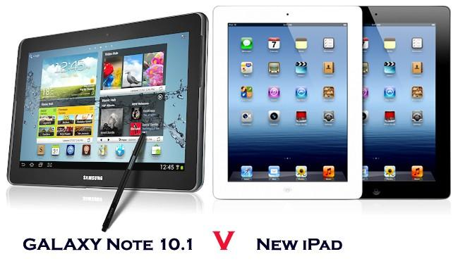 Galaxy Note 10.1 v new iPad