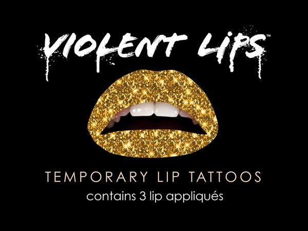 The Gold Glitterati by Violent Lips