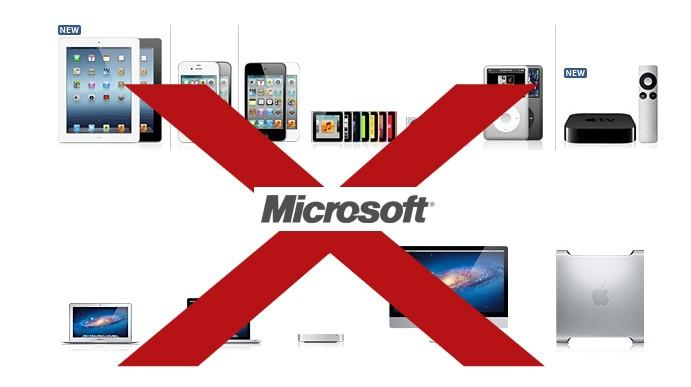 Microsoft Bans Apple Products