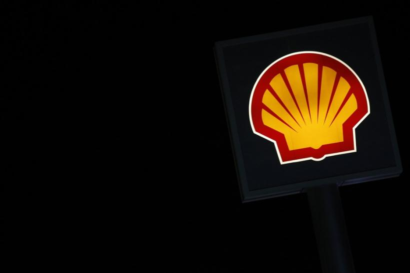 A Shell logo is seen at a petrol station in Ankara March 6, 2012.