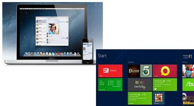 OX X Mountain Lion and Windows 8