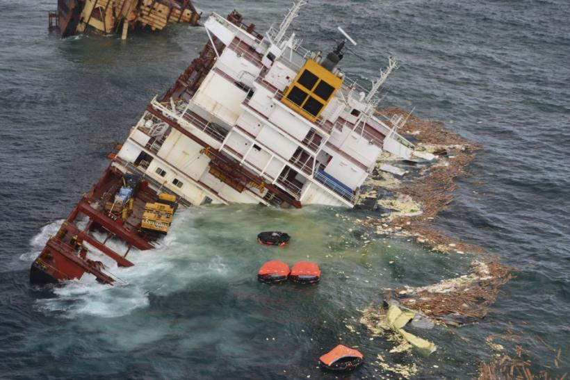 Broken Cargo Ship Rena Photos: Stern Of Stricken Container ...