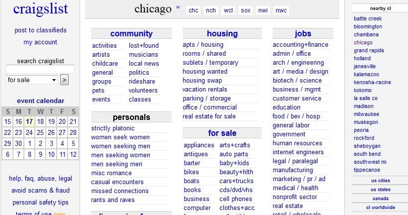 Chicago Craigslist