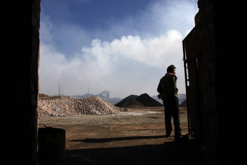 A Chinese Worker At A Rare Earth Smelter In Inner Mongolia