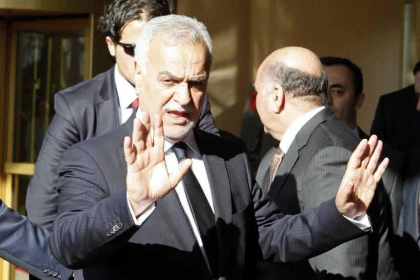 Iraqi Vice President Tariq al-Hashemi leaves after his meeting with Kurdistan Region President Masoud Barzani in Istanbul