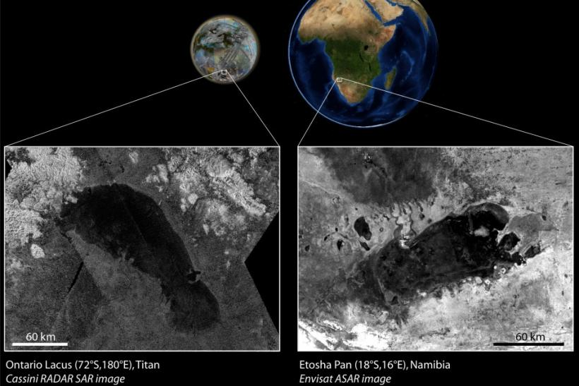 African Lake Has Doppelganger On Saturn's Moon